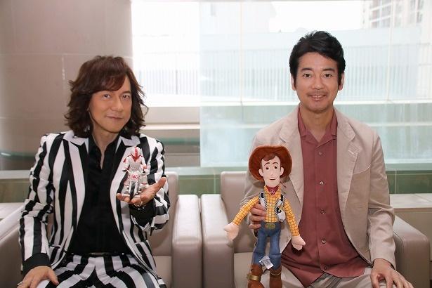 『トイ・ストーリー4』の声優を務める唐沢寿明と主題歌を担当したダイアモンド☆ユカイ