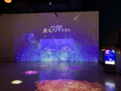 「NAKED 花火アクアリウム」が開催中。一歩足を踏み入れると、幻想的な光に包まれる