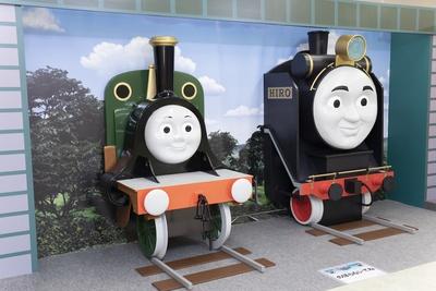 機関車のエミリーやヒロのフォトスポットも
