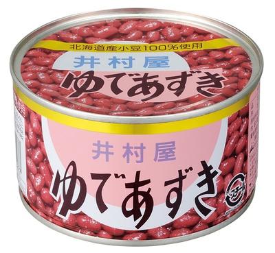 井村屋の「ゆであずき 特4号缶」410円。風味豊かな北海道産小豆100%使用。「しっかりとした甘さがあってなめらか。それでいて粒がしっかり際立っています」