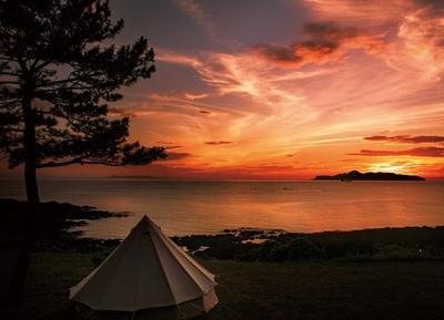 波戸岬キャンプ場 / 夕日が目の前に沈みゆく圧巻のロケーション
