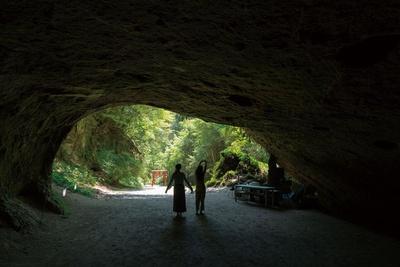 溝ノ口洞穴 / 洞穴内は暗いので奥まで入らないようにしよう。もちろん落書きなどはNG!