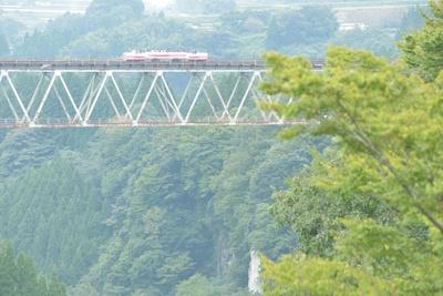 高千穂あまてらす鉄道 / 高千穂駅から天岩戸駅を通過し、旅のメインの高千穂鉄橋へ。風速10m以上の場合は手前で折り返しになるので注意