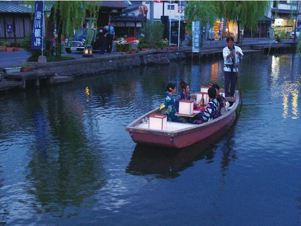 柳川川下り / 夕方に出発し、日が落ちかける時間帯までクルーズを堪能