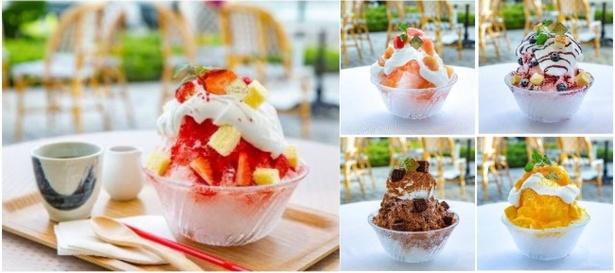 「フルーツフェスタ」のおすすめメニューは、富士山の天然水を使った「夏のCold Sweets Collection ~シェフパティシエオリジナルかき氷~」(1300円~)。全5種類がそろう