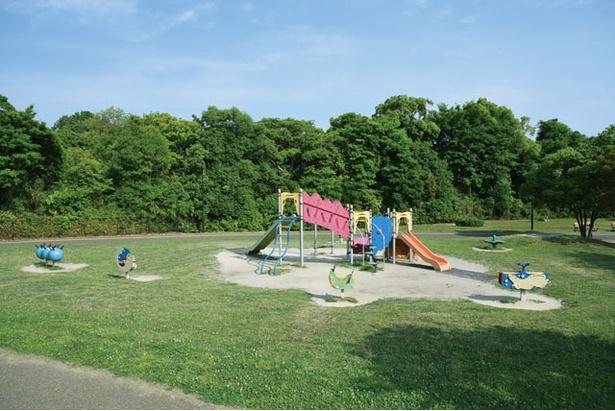 園内西側の自由広場と冒険広場、多目的広場に幼児用の遊具を設置する / 西南杜の湖畔公園