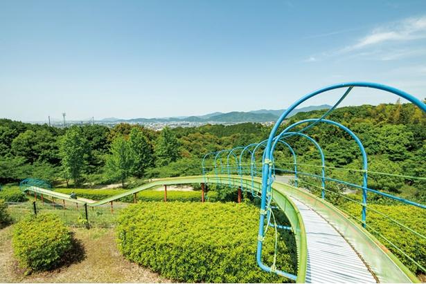 【写真を見る】子供に大人気!高低差20m、長さ90mの「ジェットスライダー」 / 大野城いこいの森中央公園