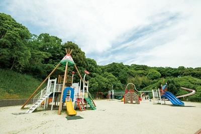 眺めもいい幼児向けの「アスレチック広場」 / 太宰府梅林アスレチックスポーツ公園