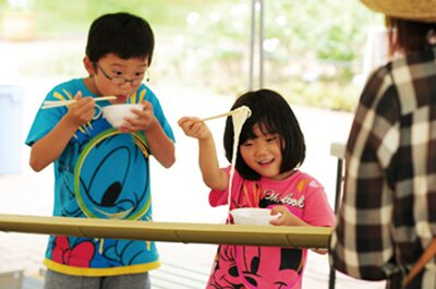 安城特産の和泉そうめんを使った流しそうめん体験(500円)も/「安城産業文化公園 デンパーク」