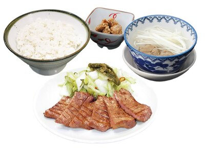 牛たん定食(3枚6切)1782円(税込)