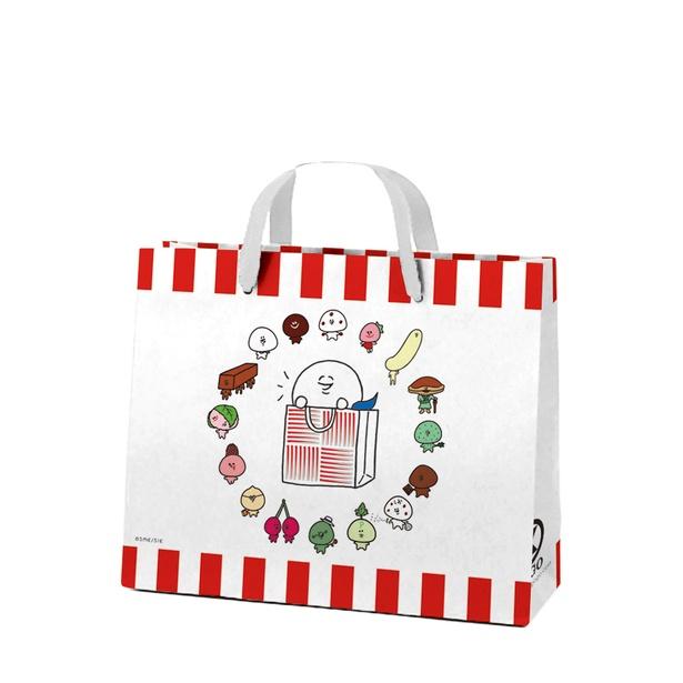 各店の対象売場で税込1620円購入すると、先着1万名(対象店舗総計)に「大福くんショッピングバッグ」をプレゼント