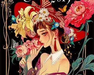 竹久夢二の絵が大好きだったマツオヒロミ氏。書籍の装幀画を中心に作品を制作している