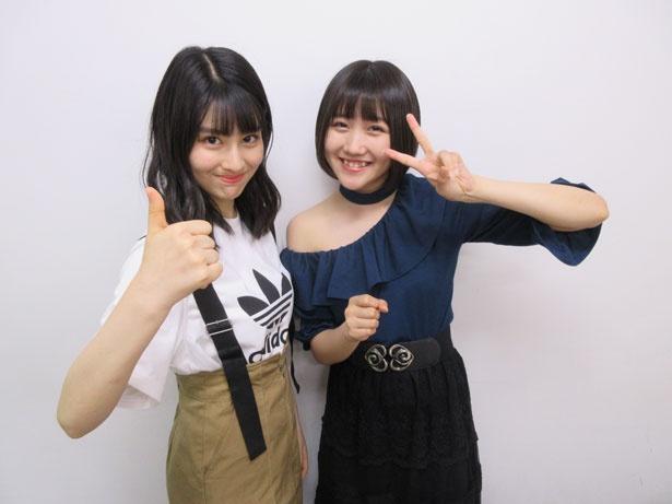 【写真を見る】「はちみつロケット」の森青葉(左)・公野舞華(右)