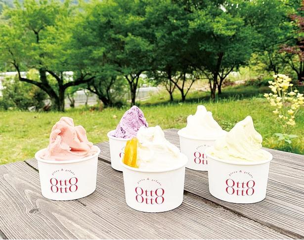 STAIRS OF THE SEA内にある、宮崎県産の果物を使ったジェラートが看板メニューの「gelato otto-otto」