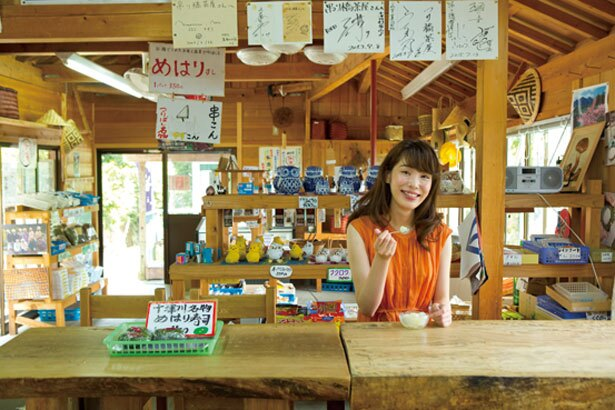 店内にはイートインスペースもあり/つり橋茶屋