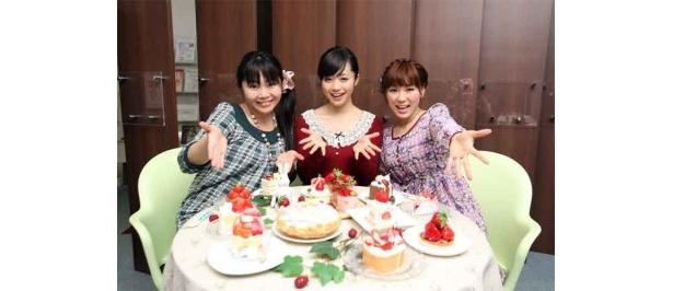 左より、小倉沙耶、斉藤雪乃、桜井ういよ。Twitterでも話題の3人娘!
