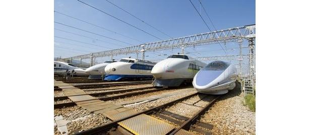 人気のN700系からミニ新幹線まで、日本全国の新幹線の映像を見ることができる