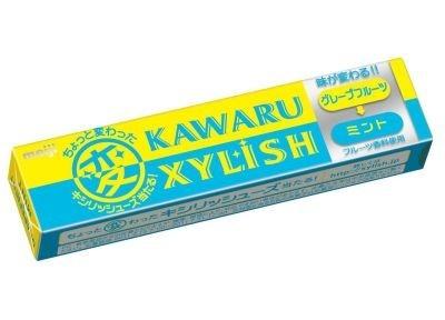 途中で味が変化するガムが新発売!「カワルキシリッシュ グループフルーツ→ミント」(100円・12粒)