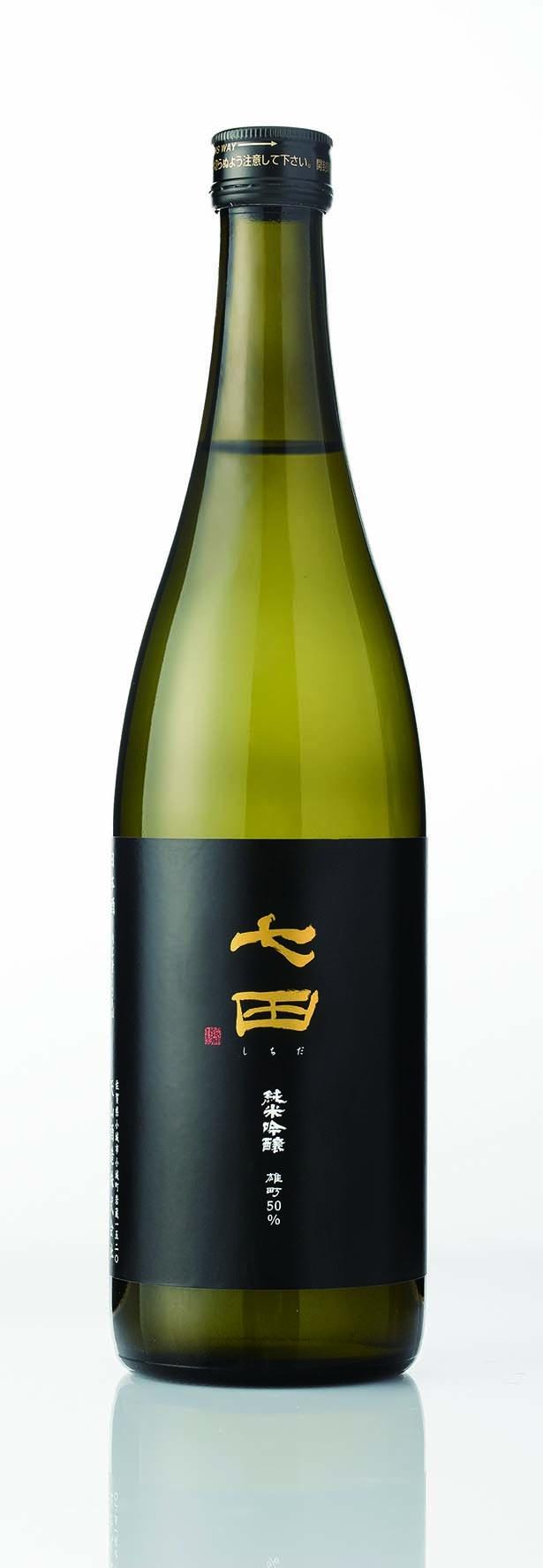 「七田 純米吟醸 雄町50」(天山酒造)。パリで初開催された「KURA MASTER 2017」で、最高賞のプレジデント賞を獲得。※銘柄は毎月更新されます