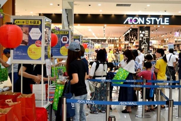 「お盆玉」販売は夏の人気イベント。※画像は2018年の様子