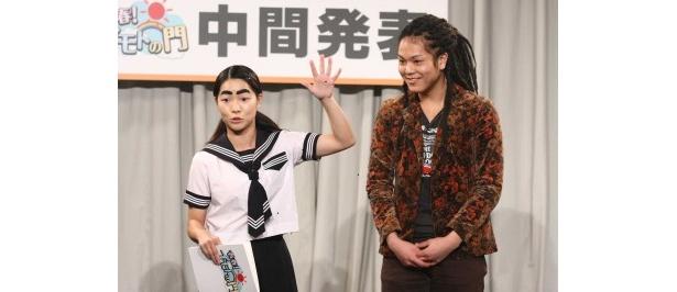 【写真】ミュージシャン志望の平尾勇志の自己アピールで、イモトアヤコは平尾をフォロー