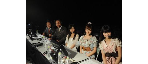 AKB48の河西智美、石田晴香、佐藤すみれがゲスト参加