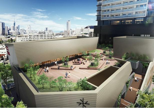 【画像を見る】屋上 / 緑豊かな憩いのスペースへ。21年3月~、利用を開始予定
