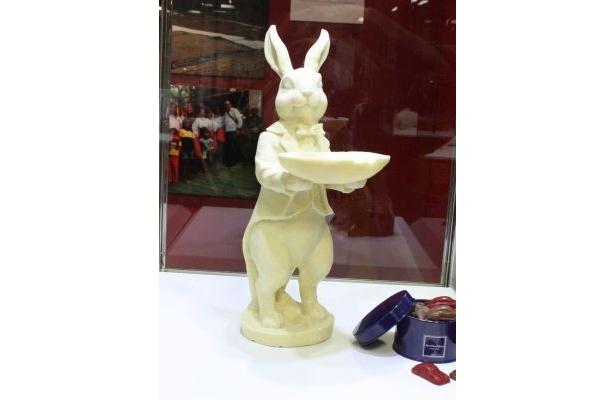 ジャン=ポール・エヴァンで展示されているチョコのアート