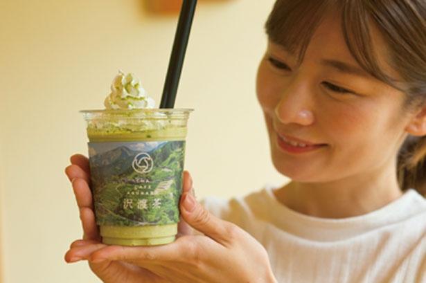 沢渡茶のスムージー(600円 ※テイクアウト500円)/茶農家の店 あすなろ
