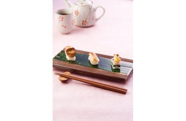 """素材はもちろん、見た目の斬新さにもこだわる海外からの参入もある、2011年の""""野菜寿司""""の世界。今年は""""NEWベジ寿司ブーム""""が一気に加速しそうだ。"""