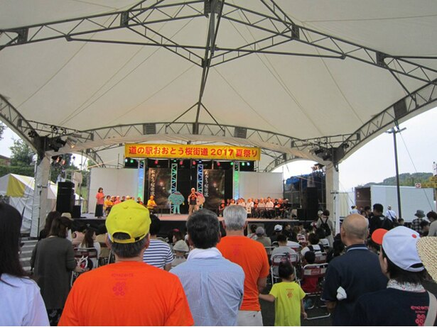 道の駅おおとう桜街道2019夏祭り / 盆踊りや花火などが例年人気の夏祭り