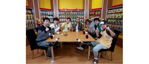 今回「帰れま10」に挑戦したフットボールアワー、タカアンドトシ、楽しんご、徳重聡、よゐこ・濱口優(写真左から)