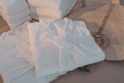 タオルやバスローブも高品質。快適に過ごすことができる