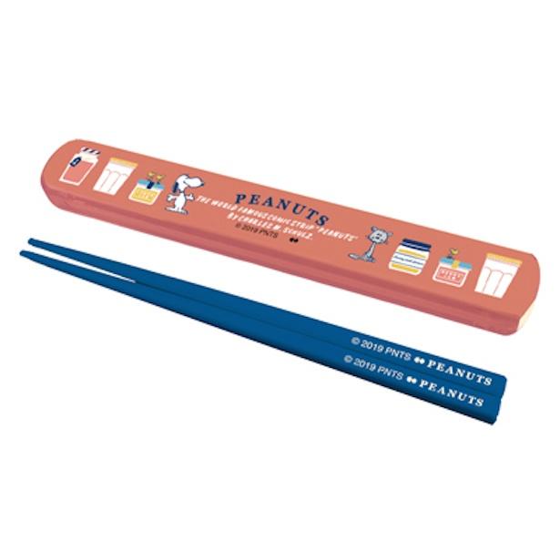 「スヌーピー 箸&ケース」(税抜700円)※サイズ:箸/195mm、ケース/206×30×14(h)mm
