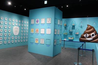 「ウンテリジェンスエリア」は、自分でうんこの絵を描くコーナー、著名人のうんこの絵を展示するコーナー、世界のうんこグッズを展示するコーナーの3つで構成