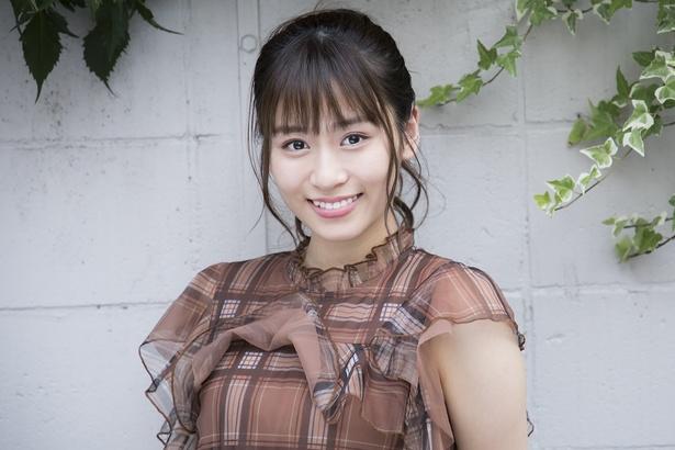 「女優さんを目指してがんばりたいです。舞台や映画、テレビにも出られるようにがんばります」内木志さん(NMB48)