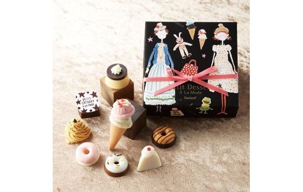 「ゴンチャロフ プチデザート アラモード」かわいいチョコレートコレクション(8個入り)