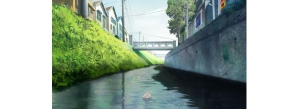 まだ美しい川に野球のボールが浮かぶ。どこか叙情的だ