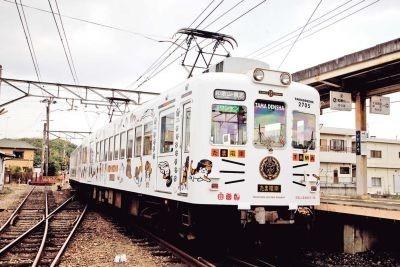 09年3月に登場したデザイン列車「たま電車」