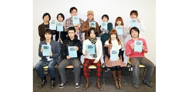 アフレコ取材に出席した、吉野裕行、白石涼子、杉田智和ら