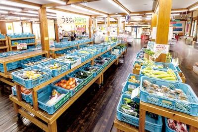 野菜、果物のほか、棚田米など地場産品がある / 道の駅 うきは