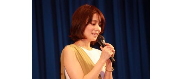 【写真をもっと見る】石田ゆり子は映画が完成したことに感激して「涙が出そうな気持ちです」と語った
