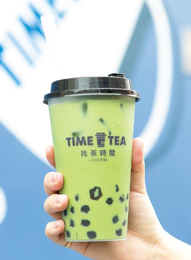 「西尾抹茶とタピオカミルクティー」(648円) / TIME to TEA(タイム トゥ ティー)