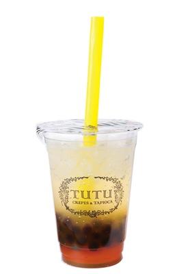 「タピオカドリンク シュワワマンゴ」(420円) / TUTU(チュチュ) セントラルパーク店