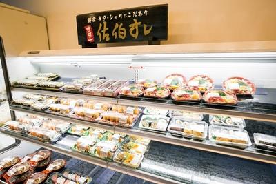 新設された寿司コーナー / 道の駅やよい