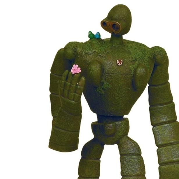 肩に小鳥が乗っかったかわいらしいアイテムとなっている(「天空の城ラピュタ オルゴール ロボット兵」)