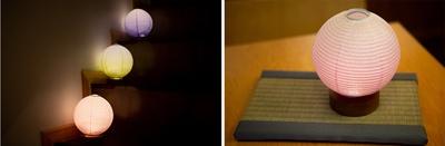 「まりあかり」(税別1張3780円)。12種類のデザインがあり、季節に応じて照明をしつらえるのも粋だ