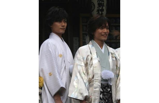 【写真】制作発表で着物姿を披露した加藤和樹、泉見洋平(写真左から)らの写真はこちら!
