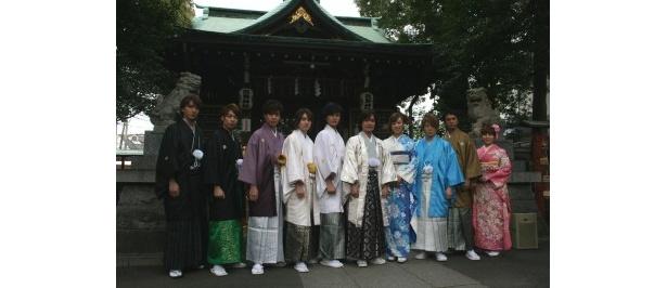 東京の五方山熊野神社にて