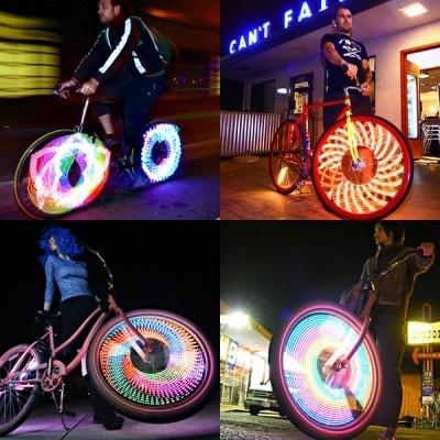 32色のイルミネーションにきらめく自転車
